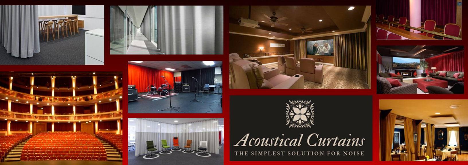 Acoustical Curtains Are Custom Made And Absorb Sound