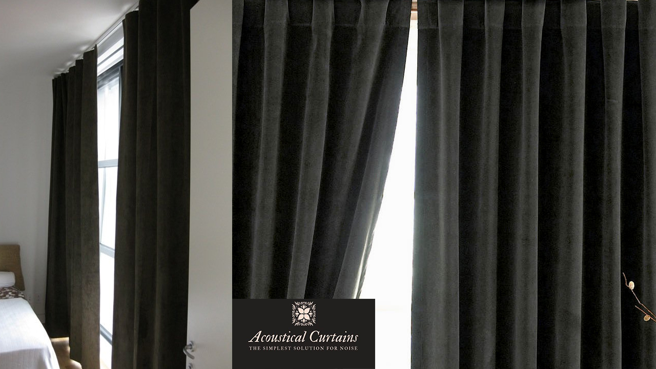 Noise Reducing Curtains Alexander 84inch Room Darkening Grommet Top Window Curtain Panel Pair